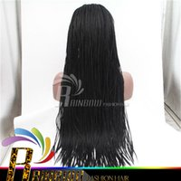 african hair braiding styles - New style brazilian hair Lace front wig Synthetic Braiding Hair Synthetic Wig braiding african american hair wig