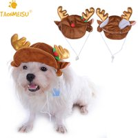 antlers for dogs - Pet Cat Dog Caps Hat Christmas Reindeer Antlers Design Party Holiday Costume Headwear Headdress Accessory Baseball Caps For Dogs