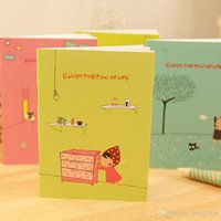 Wholesale school supplies cute korean stationery cartoons rea hat girls notebook paper diary notepad note book