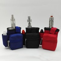 bag pack leather - Vapesoon Multifunctional E cigarette Tool Bag Waist Pack Bag Hang Bag for vaporizer Oil Bottle Sigelei IPV Smok Eleaf Cloupor Box vape Mod