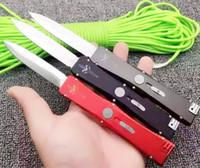 auto blade knives - Microtech Marfione Custom Nemesis single action auto knives D E blade aluminum handle Satin Dagger knife