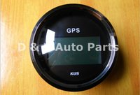 Wholesale 100 Brand New KUS CCSB mm Digital GPS Speedometer V V For Auto Boat Motor Home With Mating Antenna Black
