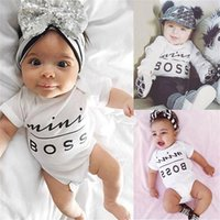 Wholesale Newborn Infant Baby Boys Girls Bodysuit Romper Jumpsuit Outfits Sunsuit Clothes