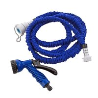 Wholesale Extensible Magic flexible Garden water Hose ft for Drip irrigation Car Watering with Spray Gun Blue