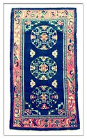 antique rug blue - Antique Rugs From Tibet Handmade and natural color All Wool