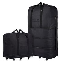 air luggage - Large capacity Tier Expandable folding bag Oxford cloth bag universal wheel Consignment by Air travel waterproof duffel bags luggage bags