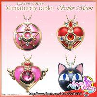 Wholesale Original Bandai Sailor Moon th Anniversary Miniaturely Tablet Case Keychain Set No Candy