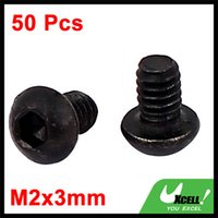 Wholesale M2x3mm Alloy Steel Button Head Hex Socket Cap Screw Bolt Black
