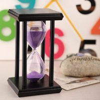 Wholesale 30 Minutes Wooden Sand Clock Sandglass Hourglass Timer Home Decoraton Gift