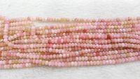 beryl bead necklace - pink opal gemstone crystal lapis sunstone labaradorite aquamarine beryl ruby beads rondelle abacus faceted necklace loose beads x4 x6mm
