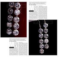 Wholesale Classic Platinum Plated Chandelier Earrings Bridal Long Drop Wedding Earrings for Women