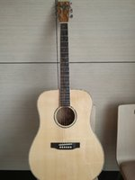 Wholesale OEM Acoustic Guitar Natural AAA Solid spruce Rosewood Fingerboard Abalone Binding Body Guitar