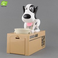Wholesale Hungry Puppy Money Box Eating Coin Dog Money Saving Box Piggy Bank For Children