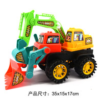 Wholesale Children engineering truck Large beach inertia engineering vehicle Simulation excavator model