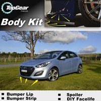 Wholesale For Hyundai i30 Elantra GT Front Skirt Deflector Spoiler Bumper Lip Lips For Car Tuning The Stig Recommend Body Kit Strip