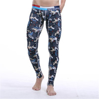 Wholesale Cotton Printing Warm Men Long Johns Leggings Thermal Underwear Bottom Pants