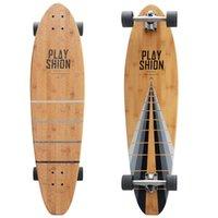bamboo cruisers - PLAYSHION Kick Tail Cruiser Bamboo Longboard Skateboard Inch