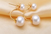 Wholesale New design fashion Earring freshwater pearl Earring Oval shape real pearl jewelry with S925 sterling silver Earrings