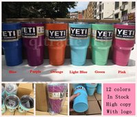 Wholesale In Stock COLORS OZ YETI Rambler Tumbler Cups Vehicle Tumblerful Bilayer Vacuum Insulated Stainless Mug with logo OOA508