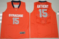 best fashion colleges - College Camerlo Anthony Orange Jersey Shirt Syracuse Orange Uniforms Fashion Rev Best Quality Drop Shipping