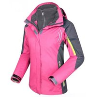 Wholesale New Brand Women winter Sports Outdoors Camping Skiing Wear Jacket Windproof Waterproof in1 Jacket Removable Hoods Skiing Jackets Coats