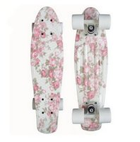 Wholesale 22 quot Graphic series mini cruiser Skateboard complete single rocker longboard wheels