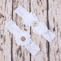 Wholesale Sexy Wedding Accessories set Wedding Garters Blue Bridal Lace Leg Garter Cinta Liga Porte Jarretelles Hot Leg Ring set