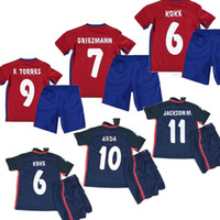 kids football shirts - Atletico Madrid Kids Jersey ARDA home away GRIEZMANN F TORRES thai quality Atletico Madrid childrens football shirt soccer jersey