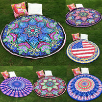 Wholesale 150cm round beach towel with tassels High quality Knitted beach towels for adults New patterns round towel