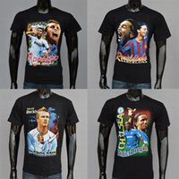 beckham t shirts - Individuality D T shirts Beckham Ronaldo Ronaldinho Print Short Sleeve Pure Cotton Punk T Shirt Polos Tess For Men