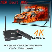 Wholesale M8S Android TV Box Amlogic S812 Quad Core Full HD Smart tv Media Player KODI Dual band GHz GHz WiFi Bluetooth Smart TV Receiver