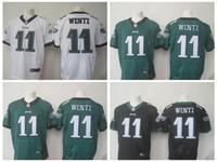Wholesale Carson Wentz Philadelphia Elite black green white Jerseys size small s xl All Sewn
