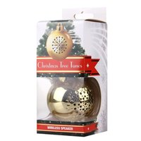 Wholesale Lovely Hanging Circular Christmas Tree Tune Bluetooth Speaker Portable Wireless Stereo Subwoofer Audio Receiver with Ribbon Hanging Hook