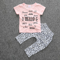 baby pyramid - 2016 new summer Newborn baby Clothes set baby girls clothes set Fashion Pyramid printed cotton T shirt pants infant clothing