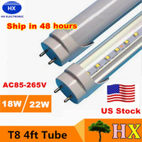 fluorescent bulbs - Stock in USA ft led tube Lights T8 W W W SMD2835 foot Led Fluorescent Bulbs mm V V CE RoHS FCC