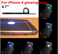 Wholesale For iPhone Luminescent Glowing Logo LED Light Up Transparent Logo Mod Panel Kit Back Cover For iphone6 inch