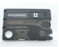 Wholesale DHL Swizerland IN Multifunctional Tool Multifunctional Business Card Camping Card With LED Lights