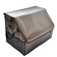 auto van - premium PU Leather Auto Car Trunk Organizer foldable storage box for car trunk Vans Multipurpose Large capacity save space Cargo storage for