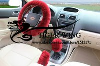 Wholesale New Many colors set Short Pulsh Winter Steering Wheel Cover Warm Car Steering Cover Multi Color Steering Cover