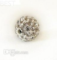 best food stock - Best mm white Micro Pave CZ Disco Ball Crystal Shamballa Bead Bracelet Necklace Beads MJPW Stock Mixed