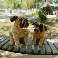 Precio de Juguete de peluche bulldog-El perro encantador grande del dogo del juguete del perro de la felpa grande lindo grande del dogo rellenó el regalo de cumpleaños del bebé de la muñeca de la muñeca