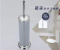 bath set factory - factory direct sale Durable Type Toilet Stainless Steel Toilet Brush Holder Set for Bathroom Bath with promotion price