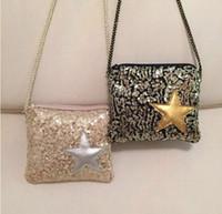 Wholesale Korea style Shinning Pentagram Glitter Quilted Kids Accessories Children s Mini Handbags Designer Small Shoulder Bag for Girls Kids Bags