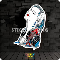 Wholesale KOI TATTOO BEAUTY STICKER random non repeating bike skateboard deck notebook laptop car wall Motorcycle stickerbomb PC luggage Fixed Gear