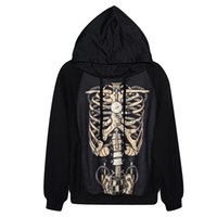 animal print watches - Fashion trend Printed Love D Mechanical watch skeleton pattern Pullovers Sweatshirt with cap strappy casual Hoodies blouses