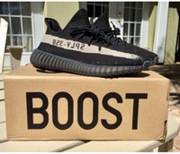 big outdoor lights - Top Factory V2 BY1604 BLACK CORE Big size Real Boost With Original Box Primeknit Stiched Kanye West Running Shoes