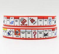 printed grosgrain ribbon - ribbon inch mm monopoly printed grosgrain ribbon webbing yds roll