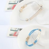 Wholesale 5 Brand New Silver Planted Alloy ID Bracelet with Woven Chain GE02146