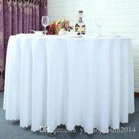 banquet table clothes - 120 inch Table cloth Table Cover round for Banquet Wedding Party Decoration Tables Satin Fabric Table Clothing Wedding Tablecloth Home Texti