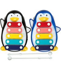 Wholesale Good Quality Funny Penguin Design Educational Note Xylophone Musical Toys For Baby Kids Children Black Blue cmx10 cm